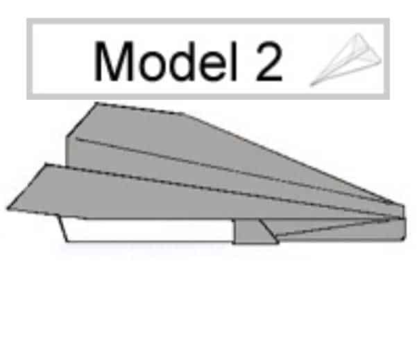 Papieren vliegtuig vouwen: model 2